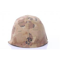 U.S. Marines Iraq War helmet.  SIZE: see attached ruler
