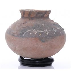 Antique Vermasse terracotta pigmented pottery from the