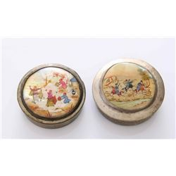 Two(2) 1920's era powder compact or pill box from Persi
