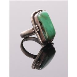 Antique Native American sterling silver and green turqu