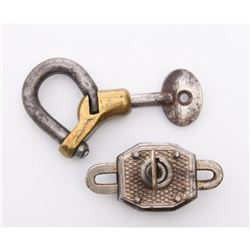 Two(2) Antique locks.  Markings: Walsco  SIZE: see atta