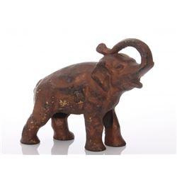 Antique cast iron Elephant doorstop.  SIZE: see attache