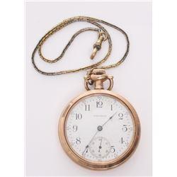 Vintage Waltham American Traveler pocket watch.  Markin