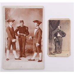 Two(2) antique Military academy photos.  SIZE: see atta