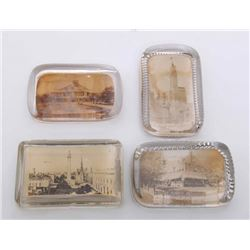 Four(4) Antique glass paperweights.  SIZE: see attached