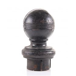 Horse banister cast Iron topper  SIZE: see attached rul