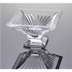 Art Deco crystal dish.  SIZE: see attached ruler photo.