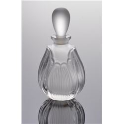 Crystal perfume bottle.  SIZE: see attached ruler photo