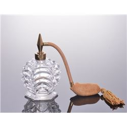 Vintage perfume bottle with tassel pump.  SIZE: see att