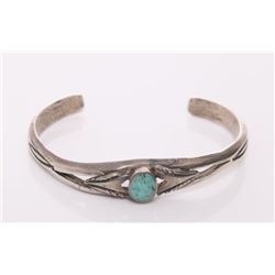 Antique Native American sterling silver and turquoise a