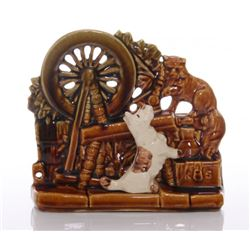 McCoy Pottery Scottie Dog and Persian Cat Spinning Whee