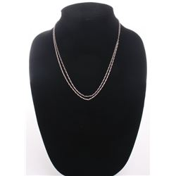 Sterling silver double link chain necklace.  SIZE: see