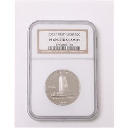 2003 P First Flight 50C Fifty Cent piece.  Graded Proof