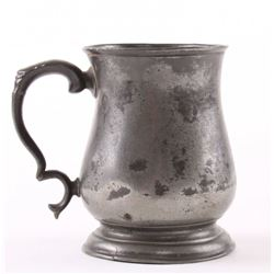 19th Century pewter mug, stamped with a crown touch mar
