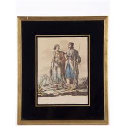 "19th Century hand colored print/etching by "" Wm. Willia"