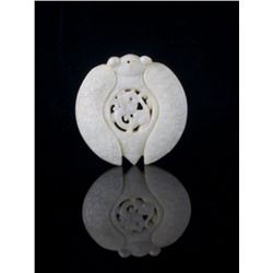 An alluring and exquisite Chinese white nephrite jade c