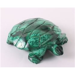 African Malachite sculpture of a  Turtle.  SIZE: see at