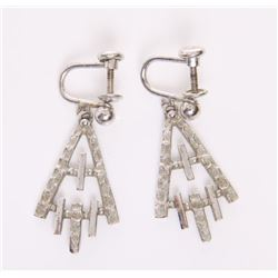 Sterling silver earrings, signed Vandell.  SIZE: see at