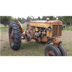 Z MM Tractor- Runs Good- Gas #00609305- Frame #00609305- Block #01811836