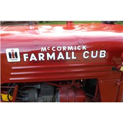 1950 IH Farmall Cub- All Original- Completely Restored- Complete Overhaul- Gaskets- Bearings-Seals-