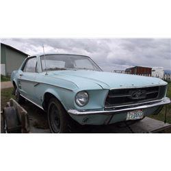 1967 Mustang- 6 Cylinder- 3 Speed manual- Runs- 42130 Miles