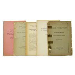 Five Offprints & Monographs by Bahrfeldt