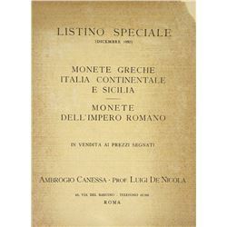 Canessa & Nicola Listino Speciale