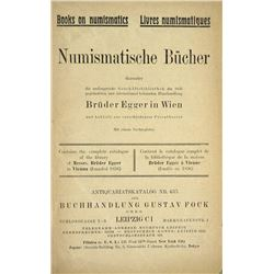 The Numismatic Library of Brüder Egger