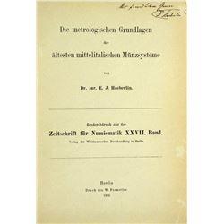 Haeberlin on Metrology and the Ancient Italian Monetary System
