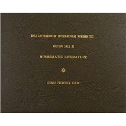 Hardcover 1982 Convention of International Numismatics Book Sale