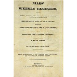 A Substantial Group of Niles' Weekly Register