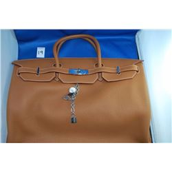 HERMES BROWN HANDBAG