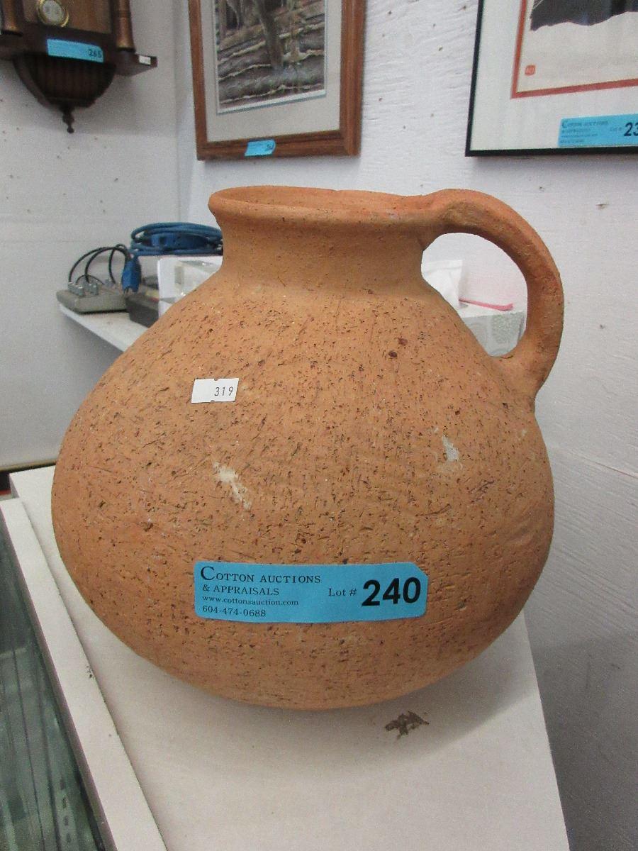Large clay water jug