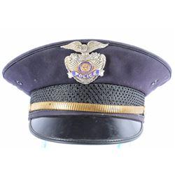Helena Montana Police Hat & Badge circa 1930-1950