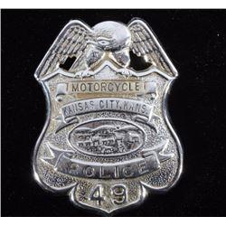 Kansas City Motorcycle Police Badge