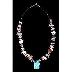 Running Bear Navajo Animal Fetish Necklace