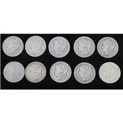 1879-1921 Morgan Silver Dollars Consecutive (10)
