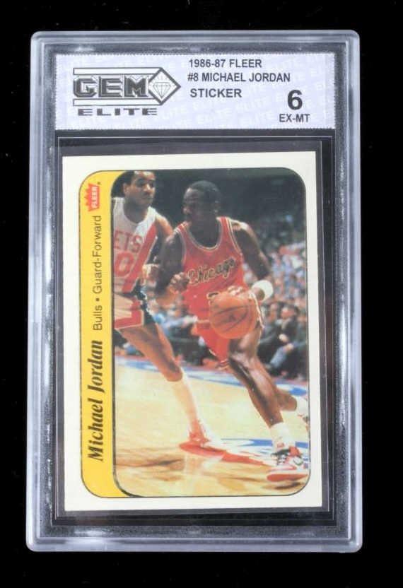 Michael Jordan Rookie Fleer 8 1986 87 Sticker 6