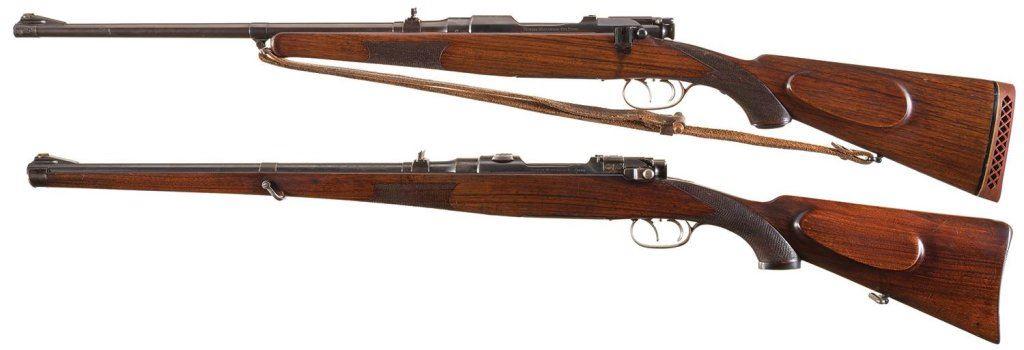 Two Steyr Bolt Action Long Guns -A) Steyr Mannlicher Model 1908 Rifle