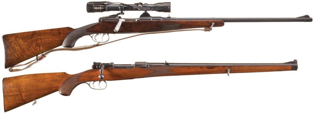 Two Bolt Action Rifles -A) Steyr Mannlicher Model 1910 Rifle with Scope