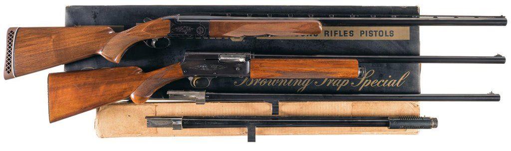 Two Browning Shotguns -A) Browning BT-99 Single Barrel Trap Shotgun with Box