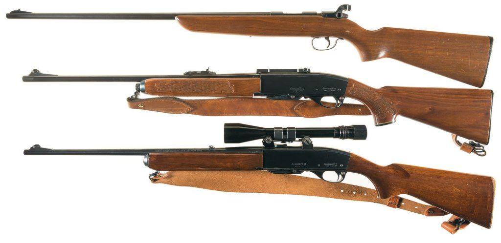 Three Remington Sporting Rifles -A) Remington Model 510-P Targetmaster  Single Shot Bolt Action Rifle