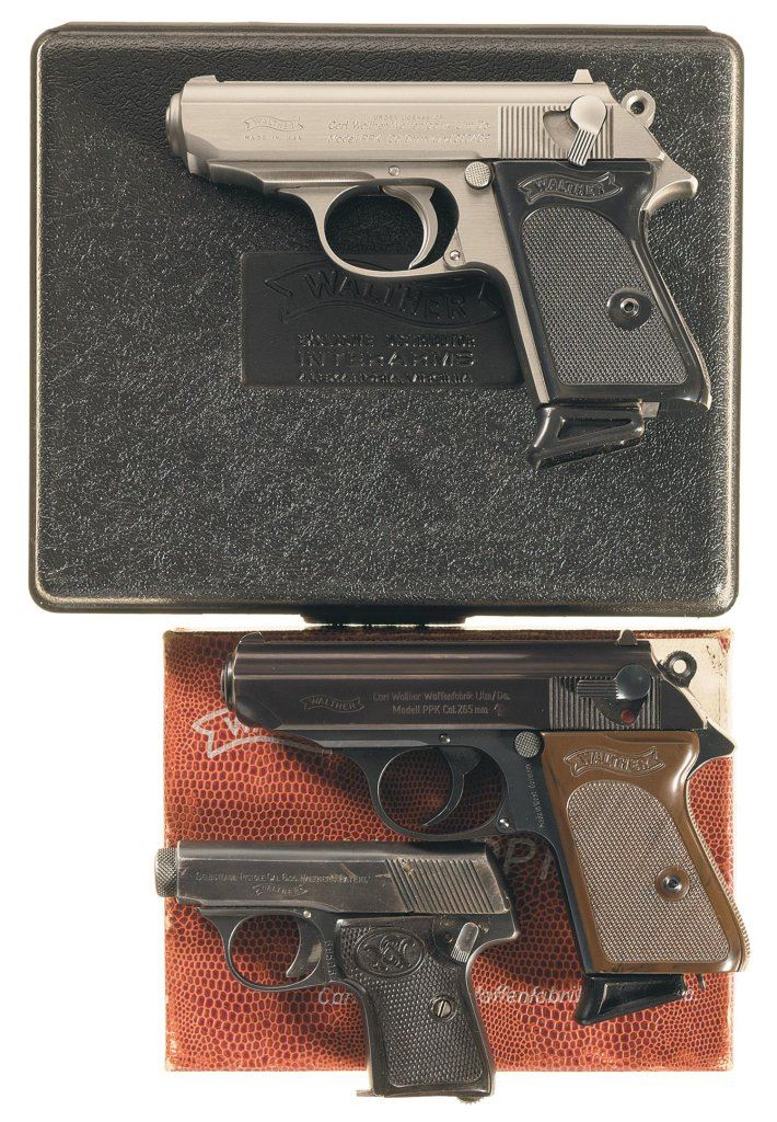 Three Walther Semi-Automatic Pistols -A) Walther PPK Pistol