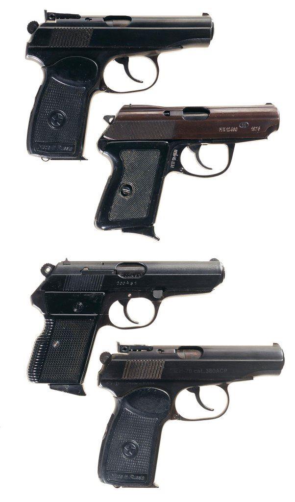 Four Semi-Automatic Pistols -A) Baikal IJ-70 Makarov Pistol with Holster