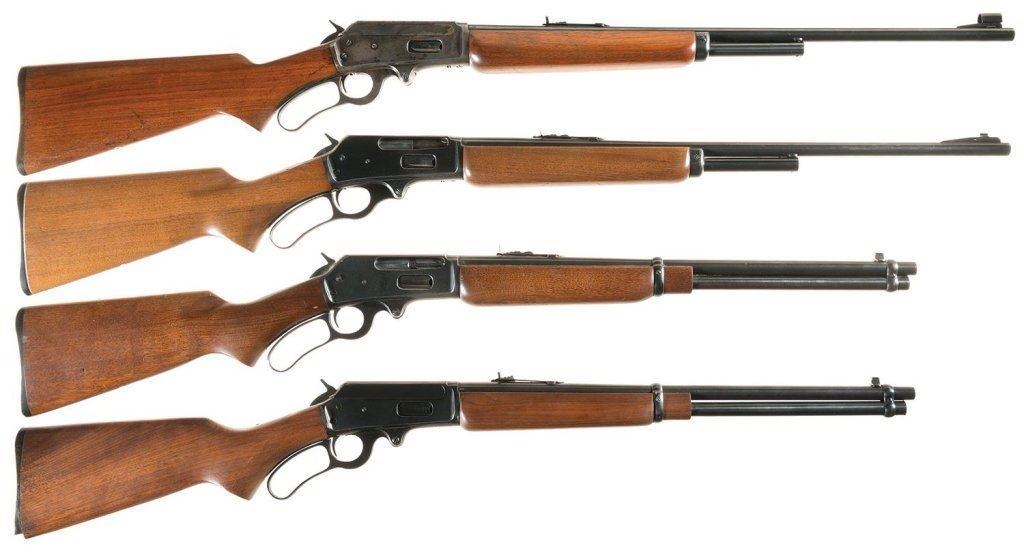 Four Marlin Lever Action Long Guns -A) Marlin Model 1936 Rifle