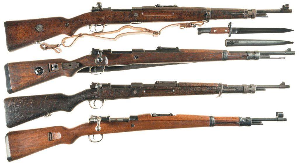 Four Bolt Action Military Rifles -A) CZ Model VZ24 Rifle with Bayonet