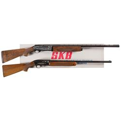 Two Engraved Semi-Automatic Shotguns -A) SKB Model 3000 Ducks Unlimited Shotgun with Box