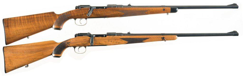 Two Steyr Mannlicher Schoenauer Sporting Bolt Action Rifles -A) Steyr  Mannlicher Schoenauer Model 19