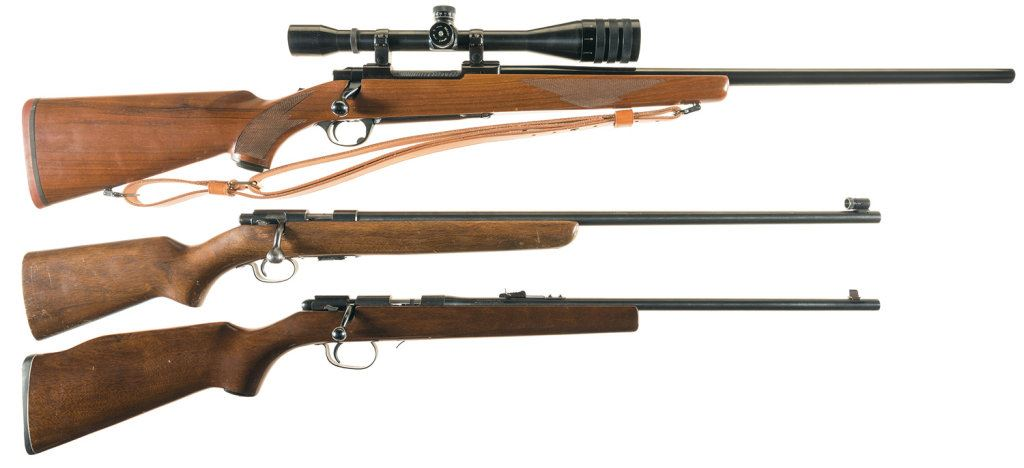 Three Bolt Action Rifles -A) Ruger M77 Rifle with Scope