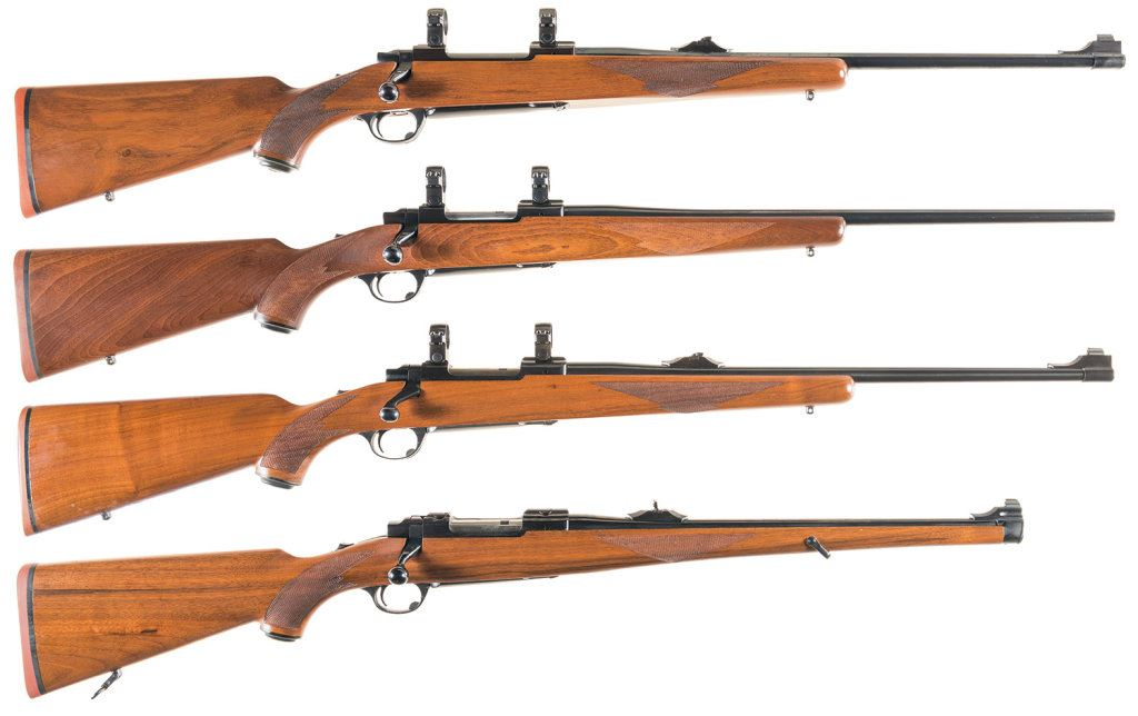 Four Ruger Bolt Action Rifles -A) Ruger M77 Rifle